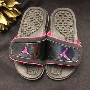 Jordan Slides-Black with Pink, 11C